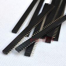 10X RoHS 1X40 2.54mm Pin Header Single Row Female for DIP PCB Board convert G22