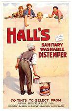 ADVERTISEMENT HALL'S DISTEMPER WALL PAINT BRITISH MAGAZINE