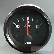 VDO  AMPEREMETER  INSTRUMENT GAUGE 60A  Cockpit international classic schwarz