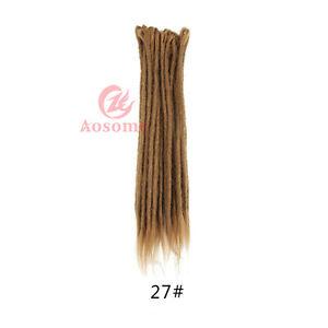 5pcs 20inch Crochet Dreadlocks Hair Extensions Synthetic Dreads Braids Locs 27#