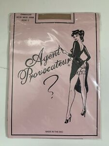 Agent Provocateur Stockings Champayne Size C with Back Seam