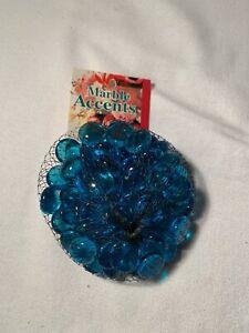 GLASS GEMS DECORATIVE ACCENTS BLUE COLOR