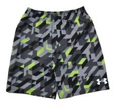 a2e981e36632f Under Armour Big Boys Gray & Black Printed Swim Short Size 10 (medium)