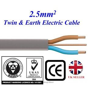 2.5mm Twin and Earth Quality Electric Cable Socket Electric Wire 6242Y