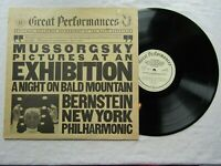 BERNSTEIN LP MUSSORGSKY PICTURES AT AN EXHIBITION  BALD MOUNTAIN cbs 60113