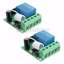 2x DC12V 10A 1CH Channel Wireless Relay RF Remote Control Switch Receiver Module
