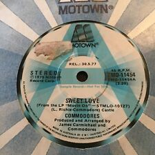 "THE COMMODORES....SWEET LOVE - -Rare 1977 Australian Motown A PROMO 7"" Funk Soul"