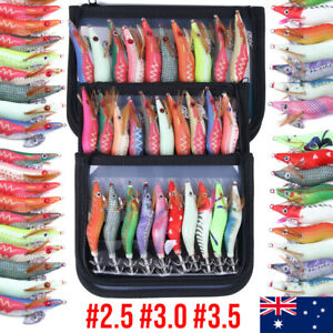 #2.5 #3 #3.5 Egi Squid Jigs Jags Fishing Lures Yo Yama Jap Jig Glow Zuri Shrimp