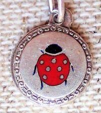 Charms Bracelet Anhänger, Bettelarmband, Silber emailliert, ladybeetle