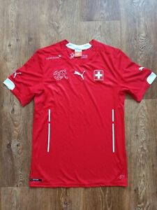 SWITZERLAND SUISSE SWITZERLAND National Jersey Shirt Football 2014 2015 Size S