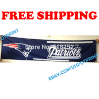 New England Patriots Banner Flag 2x8 ft 2020 NFL Fan Club Wall Home Decor NEW