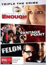 Enough / Vantage Point / Felon (DVD, 2017, 3-Disc Set)