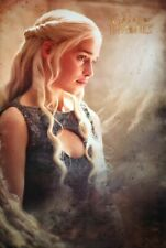 Game Of Thrones Poster Daenarys Maxi Holz mehrfarbig