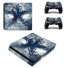 For PS4 Slim Console Sticker Dallas Cowboys Theme Design Vinyl Skin Decal