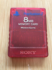 Carte Mémoire Officielle SONY Playstation 2 Grise ROUGE RED - 8MB PS2 PS 2
