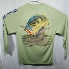 Bimini Bay Fishing Shirt Long Sleeve Small Bass Graphic