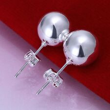 925 Sterling Silver Ball Stud Earrings L27