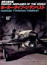 war ww2 HAWKER TYPHOON/TEMPEST , Famous Airplanes of the world no.63 Japan 1997