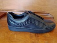 HUGO BOSS GREEN  Timeless Tenn Mtmb Mercedes-Benz Leather Sneakers 001 Black