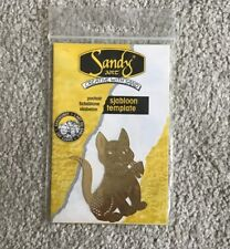 Solid Brass Stencil Template - Cat. NEW. crafts