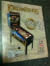 Stern THE LORD OF THE RINGS Pinball flyer- good original