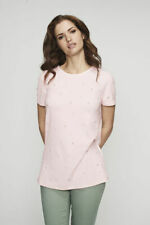 Long Tall Sally Pearl Embellished T-Shirt Top Pink Size M Bnwt