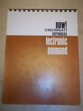 Cincinnati Milling Machine Co Catalog~Electronic Command~Grinding~Acrasize II