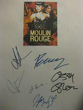 Moulin Rouge Signed Film Script X6 Nicole Kidman Ewan McGregor Ozzy Osbourne rpt