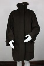 Max Mara wool cashmere fur coat jacket 8 brown made in italy UK 12 IT 42