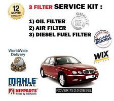 FOR ROVER 75 2.0 TD DIESEL 1999-2005 SERVICE KIT OIL AIR FUEL 3 FILTER SET