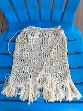"Macrame Beige Purse Bag 14"" X 9 "" Boho Chic Like Hand Bag"