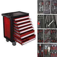 Werkzeugwagen mit 7 Schubladen inkl. 4 mit Werkzeug CRV Werkstattwagen komplett