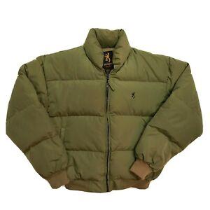 Browning Sportsmen Down Insulated Puffer Jacket Coat Trucker Cowboy Mens Medium