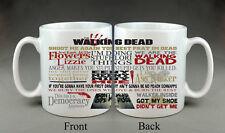 The Walking Dead Mug TV Show Quotes Mug Anniversaire Cadeau Présent Zombie Daryl Rick