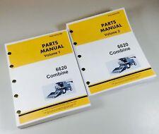 Parts Manual For John Deere 6620 Combine Assembly Schematics Catalog 2 Volumes