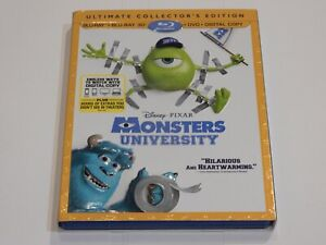 *MONSTERS UNIVERSITY* ULTIMATE EDITION 3D/2D BLU-RAY/DVD/REWARDS W/SLIPCOVER