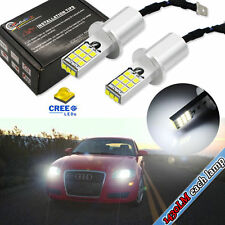 2PCS White 1430lums CREE 2835-SMD H3 LED Bulbs For Fog Lights Driving DRL Lamps