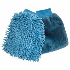 Oxford Motorbike Wash & Wax Gloves Polishing Motorcycle Mitts Cleaning Blue
