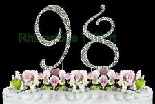 NEW Large Rhinestone  NUMBER (98) Cake Topper 98th Birthday Party Anniversary