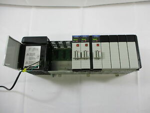Allen-Bradley 1756-PA75 /B w 1756-A10, (3) 1756-DNB ControlLogix PLC
