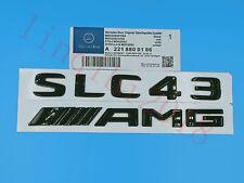 """Gloss Black /"""" SLC43 AMG BITURBO //////AMG /"""" Number Emblem Sticker for Mercedes-Benz"""