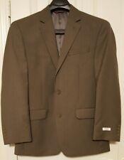 NWT $200 IZOD Men's Size 40 Regular Suit Jacket Blazer Light Brown 40R Pockets