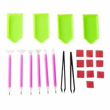 Diy Diamond Painting Tool Kit Embroidery Sticky Pen Tweezers Glue Tray uD