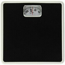 Mechanical Compact Bathroom Weight Scale Body Health Fitness Fat Black 300 Lbs