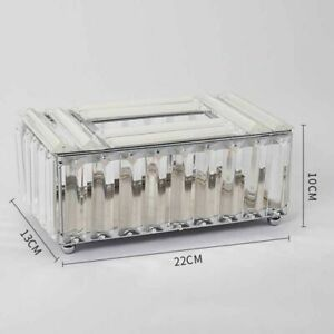 Metal Crystal Luxurious Tissue Box Shiny Napkin Storages Facial Paper Containers