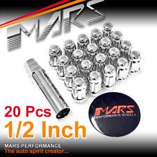 20x Chrome MARS wheels 1/2 inch slim 7 spline lug Lock Nuts for Falcon Territory