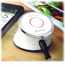 New iDevices Kitchen Thermometer Mini Bluetooth Wireless App Alert Weber