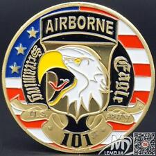 """Plated Gold""""The 101th airborne""""souvenir Medal No.1"""