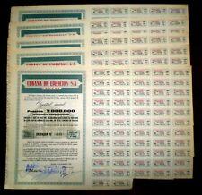 URBANA DE EDIFICIOS,S.A.Real Estate bond.1961 Spain x 5