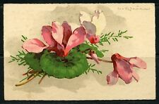 FRANCE  EXPOSITION OF 8/3/1937  CANCELED FLOWERS  POSTCARD TO LONDON